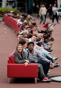 Rotes Sofa Glasgow